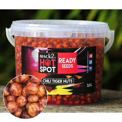 Graine cuite carpe mack2 ready made chili tiger nuts 2.3l - Prêtes à l'emploi | Pacific Pêche