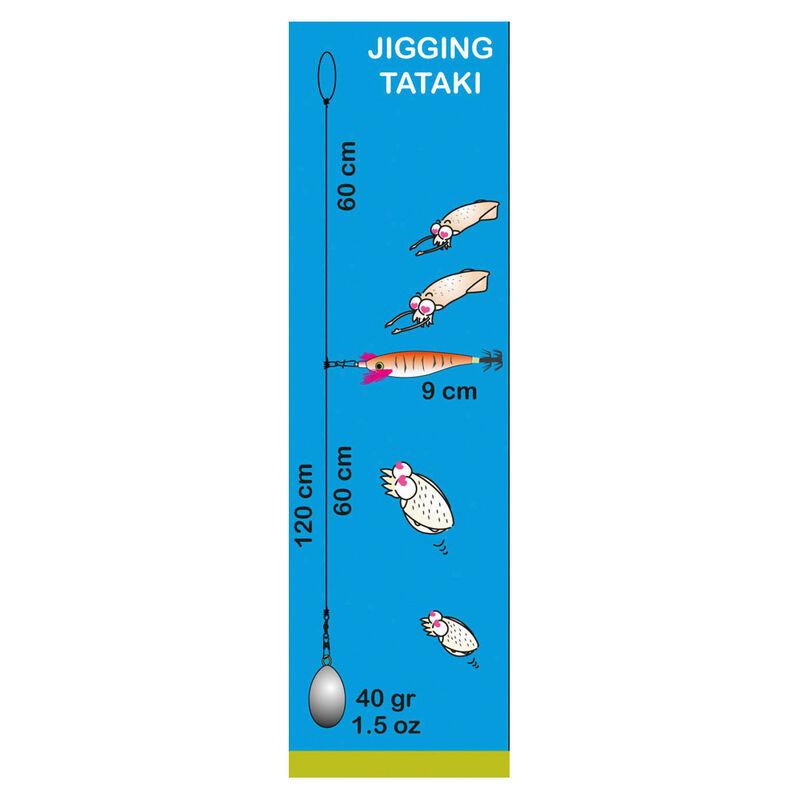 Bas de ligne mer flashmer seiche/encornet 1 turlutte - Turluttes | Pacific Pêche