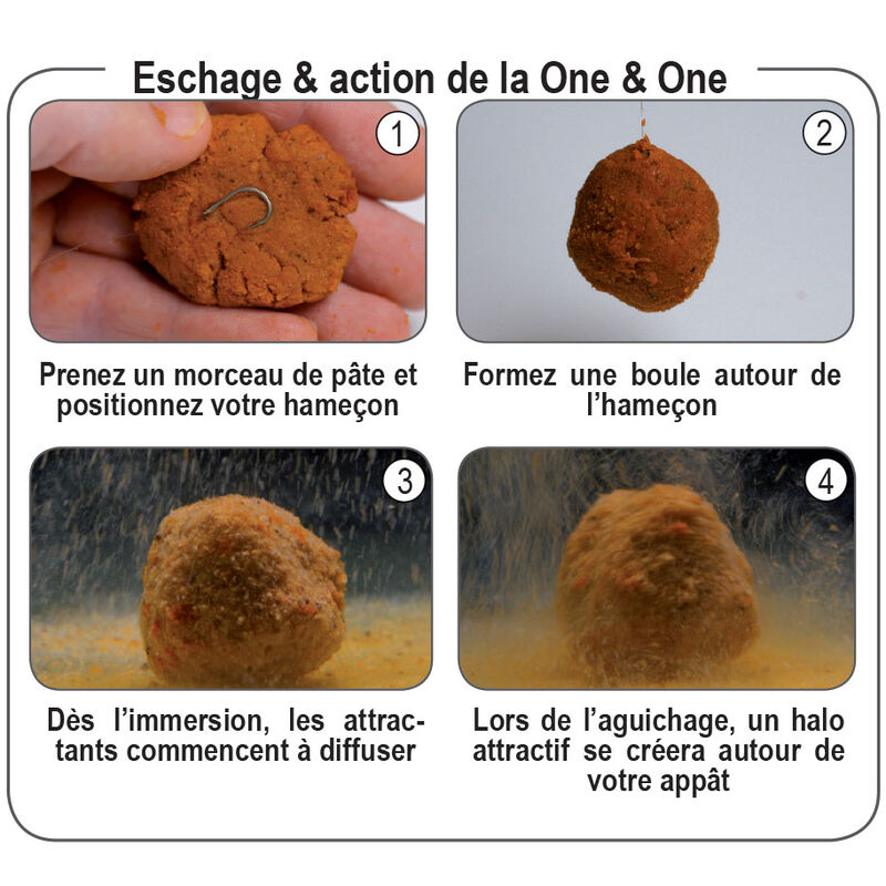 Pâte d'eschage coup fun fishing one and one monster crab 500g - Eschage | Pacific Pêche