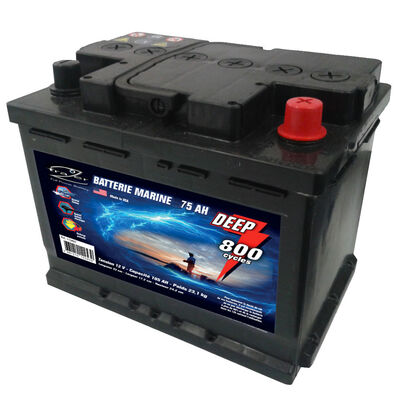 Batterie marine frazer 75ah / 800 cycles - Batteries | Pacific Pêche