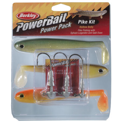 Leurre souple shad carnassier berkley powerbait pike hollow belly pro pack - Leurres shads | Pacific Pêche