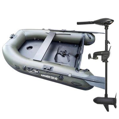 Pack bateau komando 220hd + moteur frazer 30lbs - Pneumatiques   Pacific Pêche