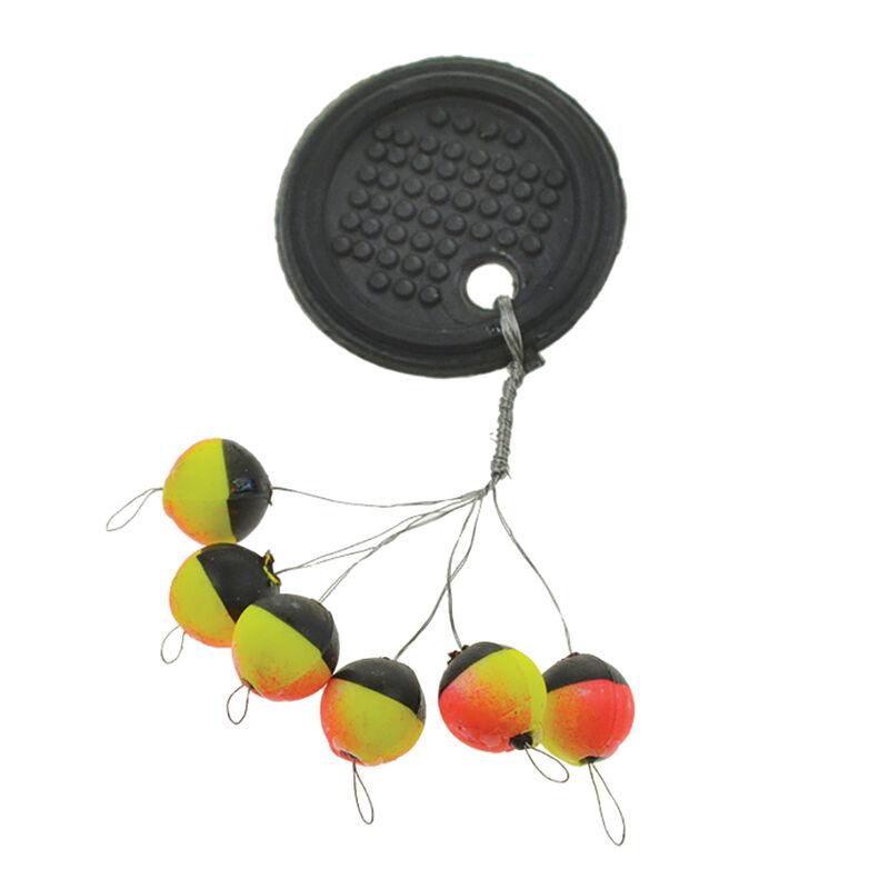 Indicateur de touche truite fiquet rigostop tricolore orange/jaune/noir (x6) - Flotteurs | Pacific Pêche