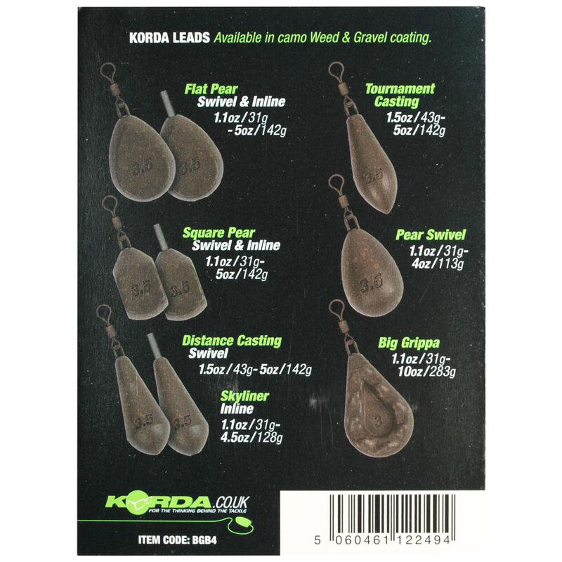Plomb à émerillon korda flat pear swivel (x2) - Emerillons | Pacific Pêche