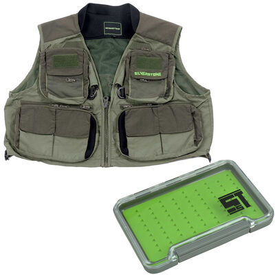 Pack gilet hardwater silverstone + boite mouche - Packs | Pacific Pêche