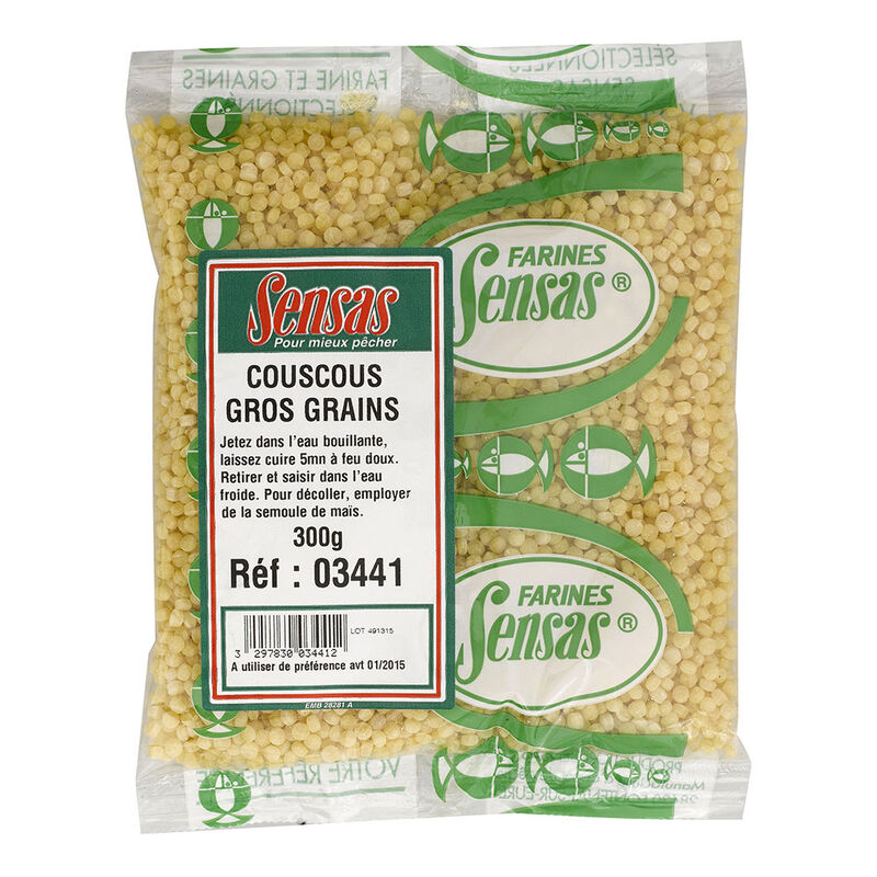Amorce sensas couscous gros grains 300g - Amorces | Pacific Pêche