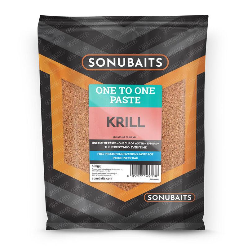 Pâte d'eschage coup sonubaits one to one paste krill 500g - Eschage | Pacific Pêche