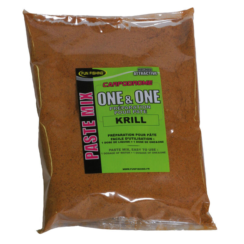 Pâte d'eschage coup fun fishing one and one krill 500g - Eschage | Pacific Pêche
