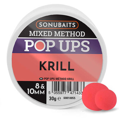 Mixe de bouillettes sonubaits method pop krill - Eschage | Pacific Pêche