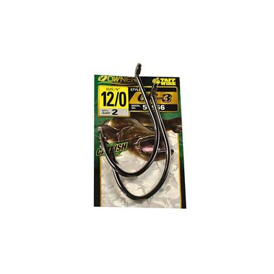 Hameçon simple silure owner cf-3 catfish hook 4111 (x2) - Simples | Pacific Pêche