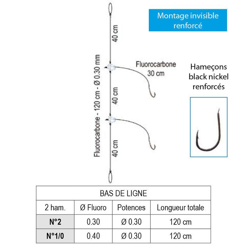 Bas de ligne flashmer daurade royale-atlantic 2 hameçons - Bas de Lignes / Lignes Montées | Pacific Pêche