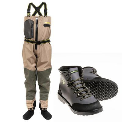 Pack wader respirant silverstone hardwater pro zip + chaussures crampons rubber - Packs | Pacific Pêche