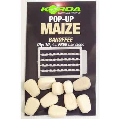 Grains de maïs artificiels carpe korda pop up maize banoffee - Imitations | Pacific Pêche