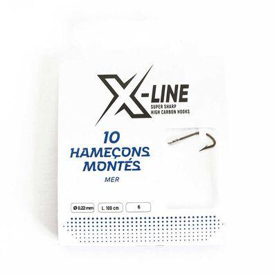 Pochette de 10 hameçons montès x-line mer - Hameçons Montés | Pacific Pêche