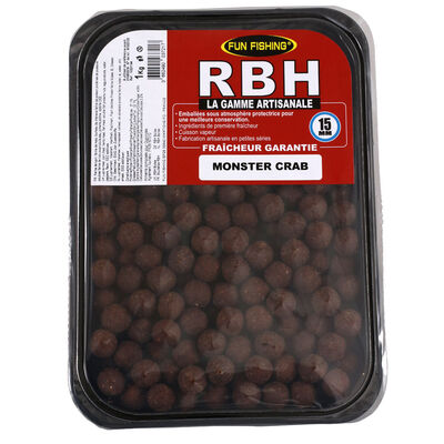 Bouillettes carpe fun fishing rbh boilies monster crab 1kg - Denses | Pacific Pêche