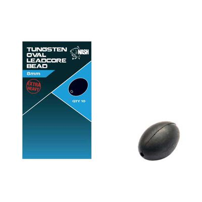 Perle nash tungsten oval leadcore bead 8mm - Perles | Pacific Pêche