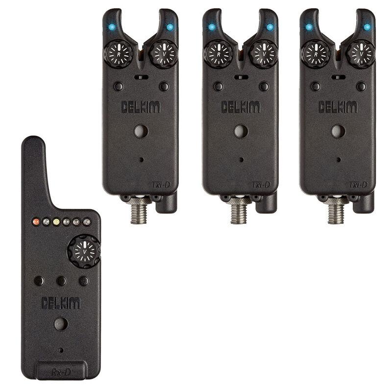 Pack 3 détecteurs carpe delkim txi-d + centrale rx-d (bleu) - Packs | Pacific Pêche