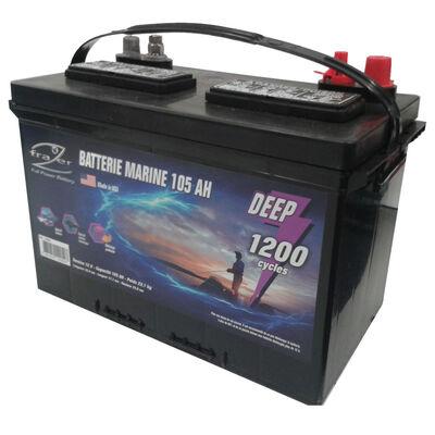 Batterie marine frazer 105ah / 1200 cycles - Batteries | Pacific Pêche