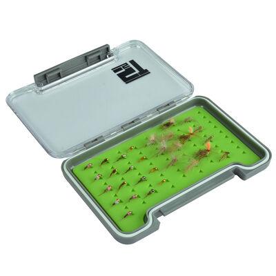 Boîte à mouche silverstone waterpro rubber slim/small (capacité 75 mouches) - Boîtes Mouches | Pacific Pêche