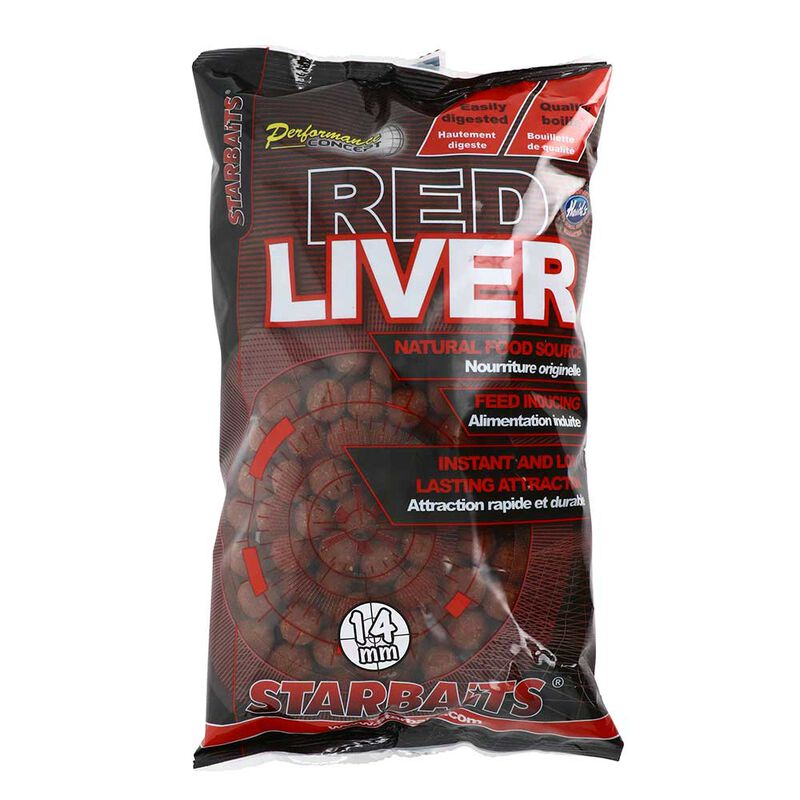 Bouilllettes starbaits pc red liver 14mm - Denses | Pacific Pêche