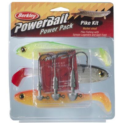 Leurre souple shad carnassier berkley powerbait pike mullet pro pack - Leurres shads | Pacific Pêche