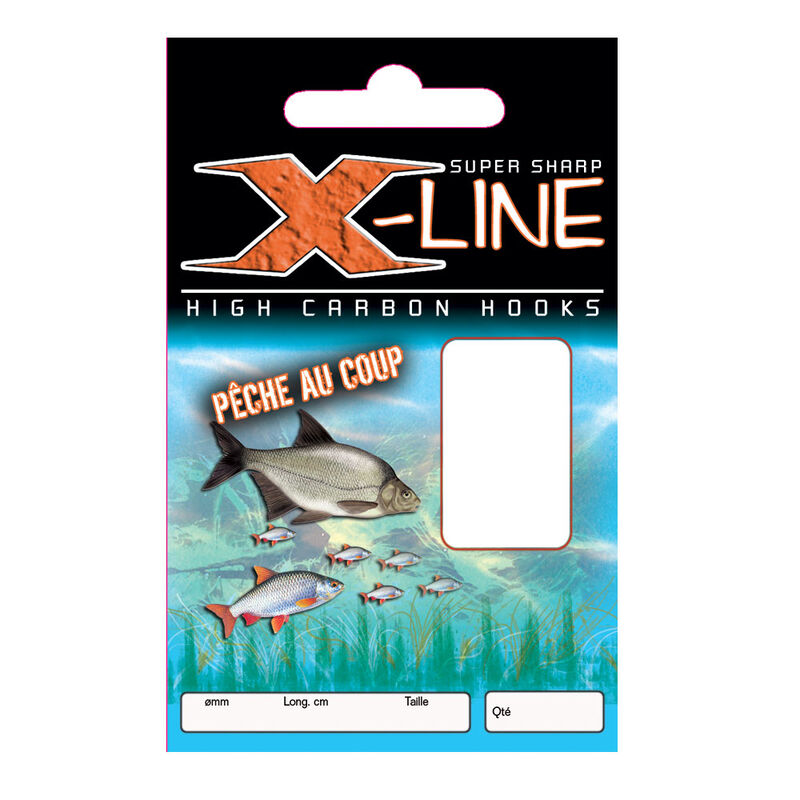 Hameçons montés coup x line peche au coup (x10) - Hameçons Montés   Pacific Pêche