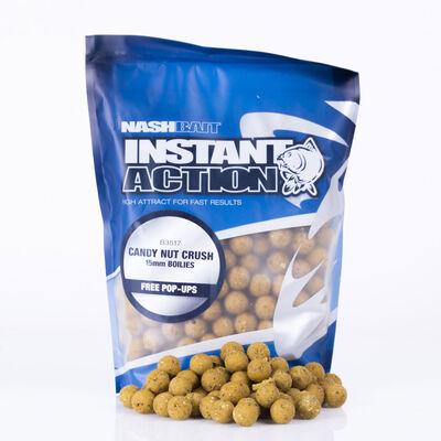 Bouillettes carpe nashbait instant action candy nut crush 15mm - Denses   Pacific Pêche