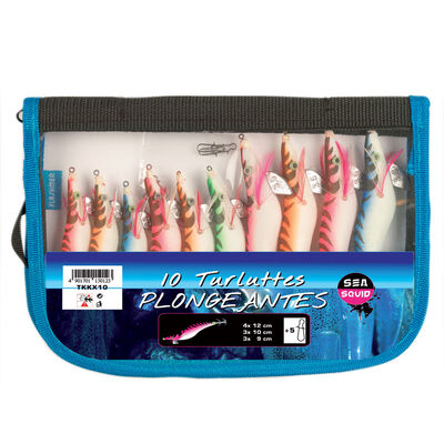 Turlutte mer flashmer kit 10 turluttes plongeantes - Turluttes   Pacific Pêche