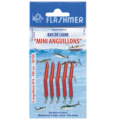 Bas de ligne flashmer mini anguillon - Bas de Lignes / Lignes Montées | Pacific Pêche