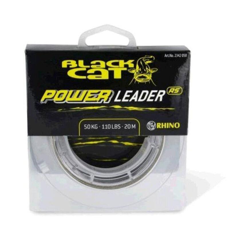 Tresse à bas de ligne silure black cat power leader rs 20m - Têtes de ligne / Leaders   Pacific Pêche