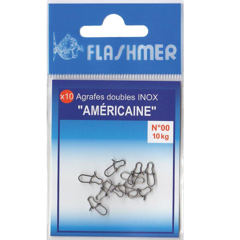 Agrafes flashmer americaine inox (x10) - Agrafes | Pacific Pêche