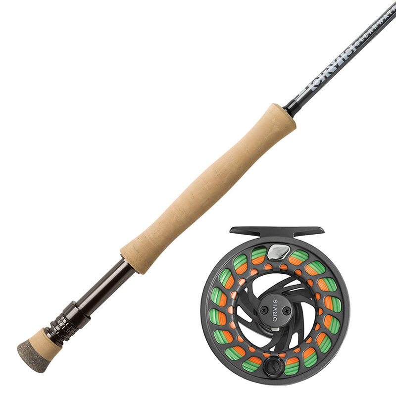 Ensemble orvis canne clearwater 9' soie 8 + moulinet clearwater gray 4 - Ensembles   Pacific Pêche