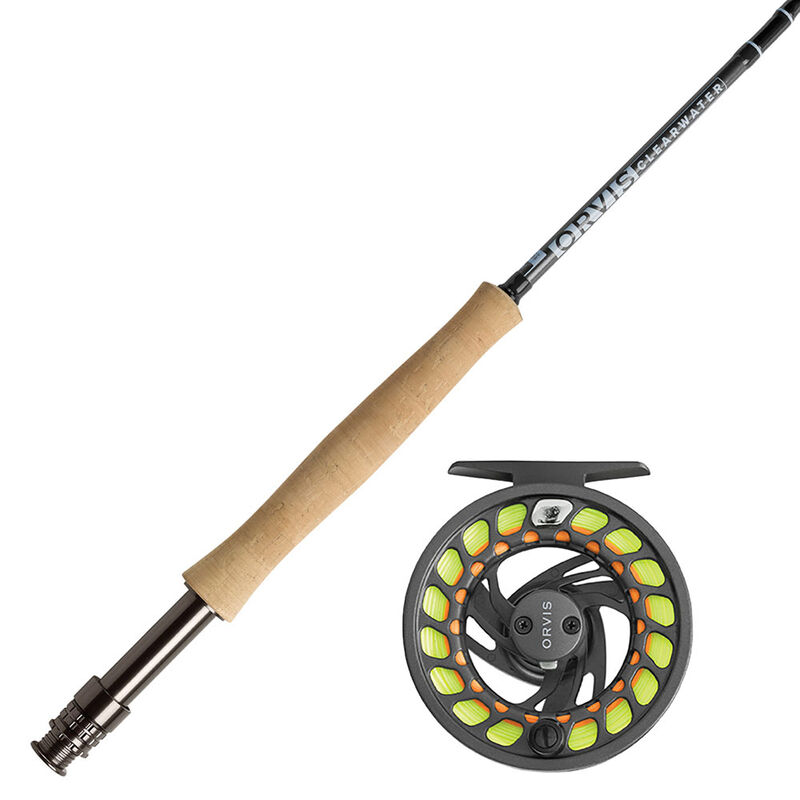 Ensemble orvis canne clearwater 10' soie 4 + moulinet clearwater gray 2 - Ensembles   Pacific Pêche