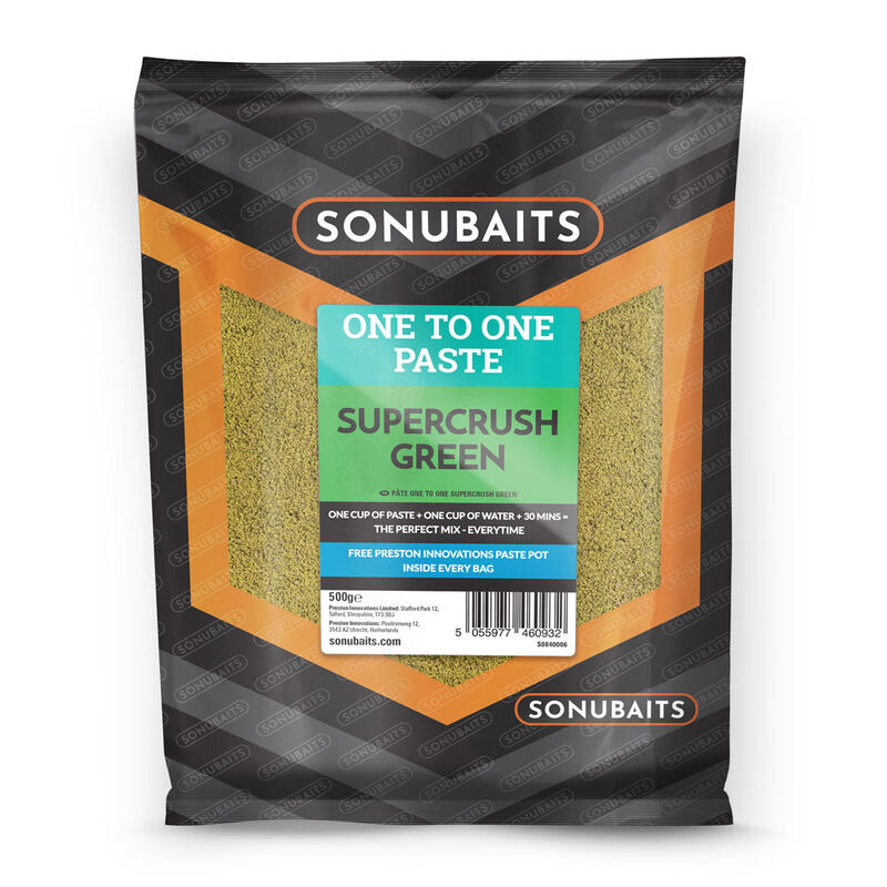 Pâte d'eschage coup sonubaits one to one paste super crush green 500g - Eschage | Pacific Pêche