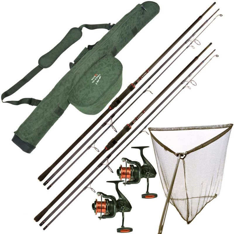 Pack mack2 sword 3 brins 10' 3lbs + moulinets + épuisette + fourreau - Packs   Pacific Pêche