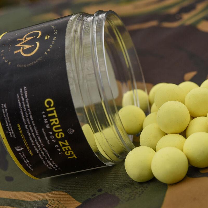Bouillettes flottantes carpe cc moore elite pop citrus zest vibrant yellow - Flottantes | Pacific Pêche