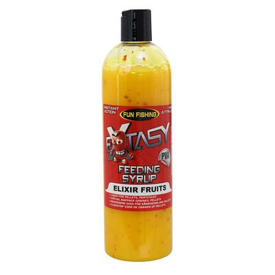 Attractant liquide funfishing feeding syrup extasy elixir fruits 480ml - Additifs | Pacific Pêche