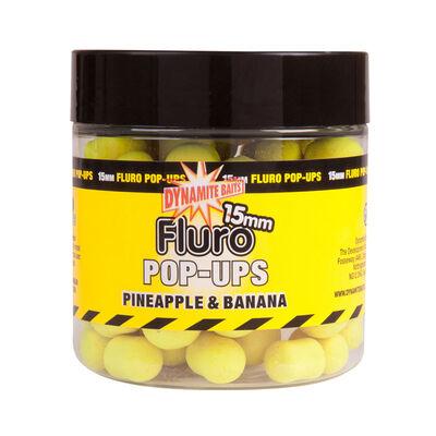 Bouillettes flottantes carpe dynamite baits fluro pop up pineapple banana - Flottantes | Pacific Pêche