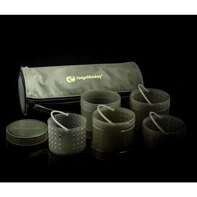 Pots à booster ridge monkey modular hookbait pots green - Sacs à Appâts | Pacific Pêche