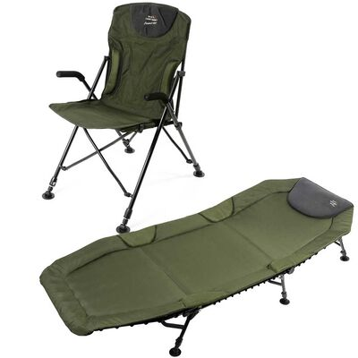 Pack confort mack2 bedchair + level chair carp addict - Packs | Pacific Pêche