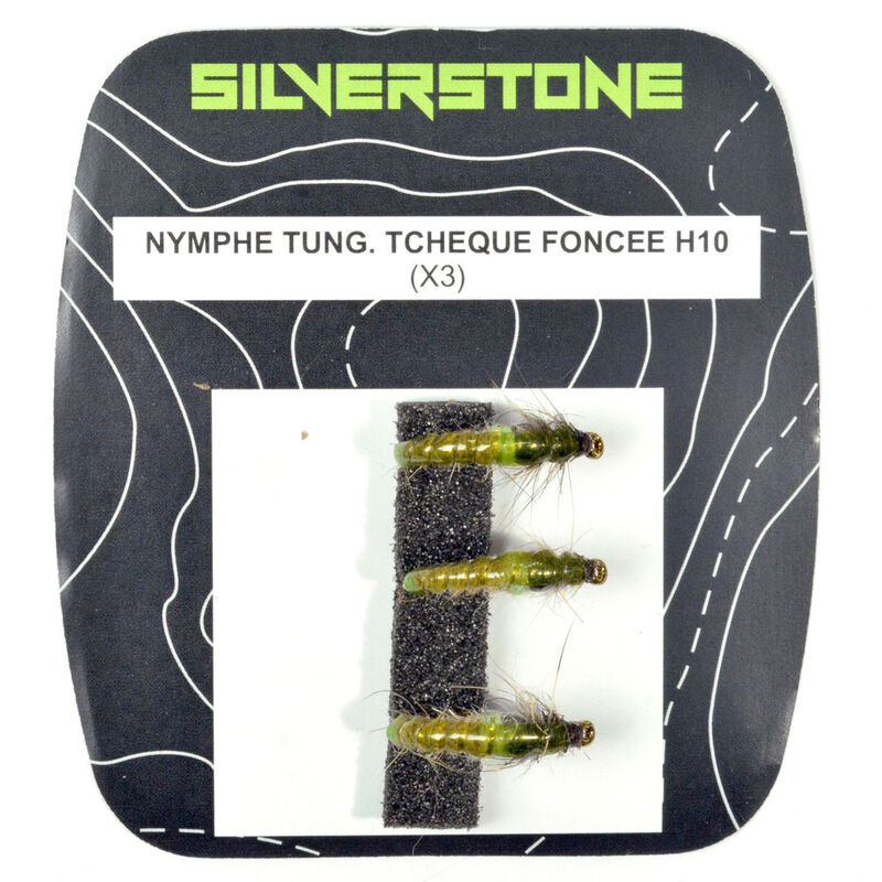 Nymphe tungstene silverstone tcheque foncée (x3) - Nymphes | Pacific Pêche
