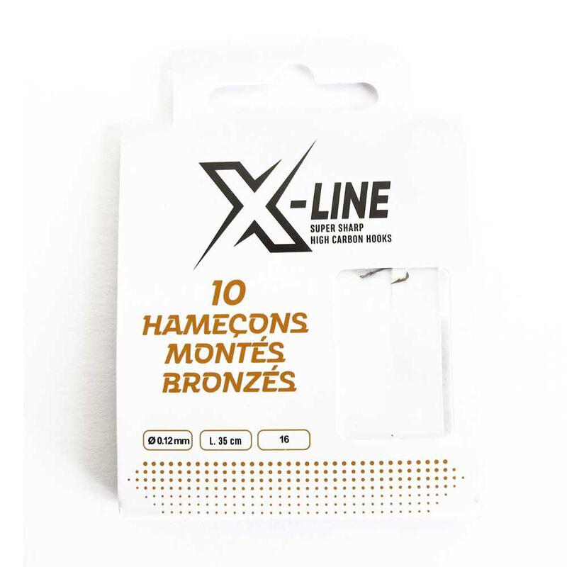 Pochette de 10 hameçons montès x-line bronzès - Hameçons Montés | Pacific Pêche