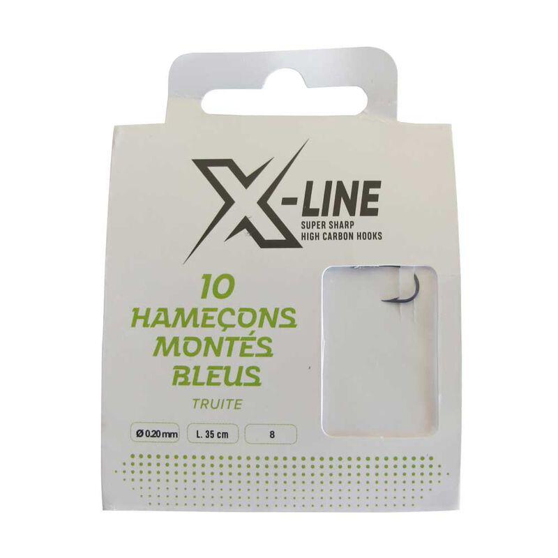 Hameçons montés truite x-line 1er prix (x10) - Hameçons montés | Pacific Pêche