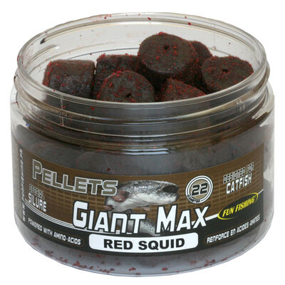 Pellets d'eschages carpe fun fishing giant max red squid - 22mm - 300g - Pellets | Pacific Pêche