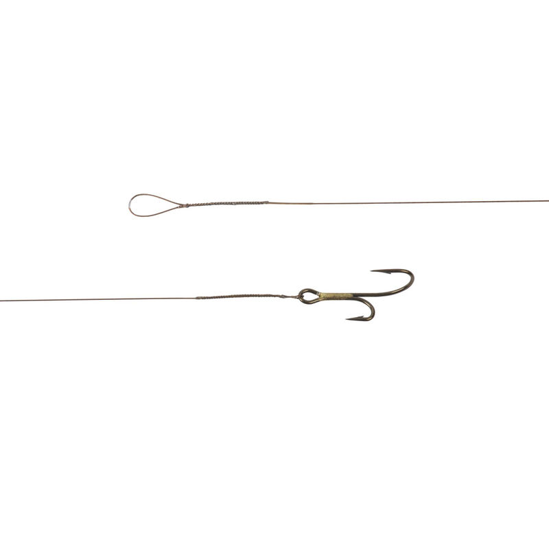 Bas de ligne acier monté carnassier cannelle multiflex 40 cm+ hameçon double ryder (x3) - Bas de ligne montés | Pacific Pêche