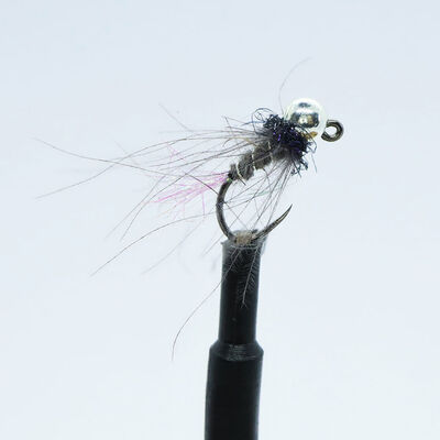 Kit 3 nymphes jigs tag rose h12 bille argent tung 3,8 mm - Nymphes | Pacific Pêche