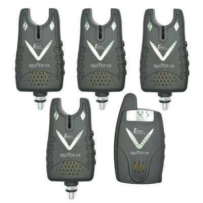 Coffret 4 détecteurs carpe team carpfishing baxter vx + centrale - Coffrets détecteurs | Pacific Pêche