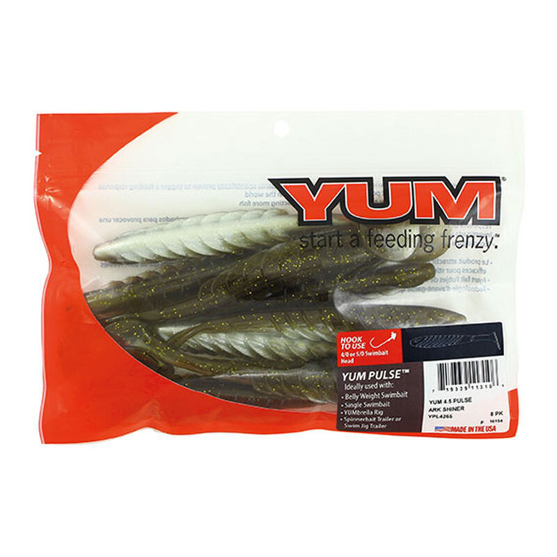 Leurre souple shad carnassier yum pulse 9cm 4.4g (x8) - Leurres shads | Pacific Pêche