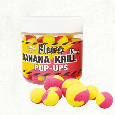Bouillettes flottantes dynamite baits fluro two tone  krill + banana - Flottantes | Pacific Pêche