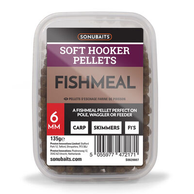 Pellets d'eschage coup sonubaits soft hookers fishmeal 6mm 135g - Eschage | Pacific Pêche